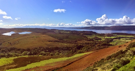 Inverkip, Leapmoor forest and Daff reservoir